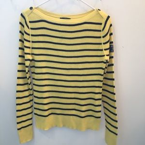 Lauren Ralph Lauren Sweater (L) Yellow/Navy